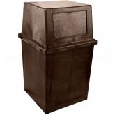 "Continental 5765BN King Kan - 65 Gallon Capacity - 28 1/2"" W x 25 1/2"" L x 43 1/2"" H - Brown in Color"