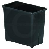 "Witt Industries 50BK Rectangular Wastebasket - 21 Quart Capacity - 9"" D x 15"" W x 13"" H - Black in Color"