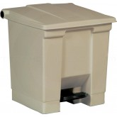 "Rubbermaid FG614300BEI Step-On Container - 8 Gallon Capacity - 16 1/4"" L x 15 3/4"" W x 17 1/8"" H - Beige in Color"
