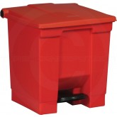 "Rubbermaid FG614300RED Step-On Container - 8 Gallon Capacity - 16 1/4"" L x 15 3/4"" W x 17 1/8"" H - Red in Color"