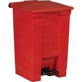 "Rubbermaid FG614400RED Step-On Container - 12 Gallon Capacity - 16 1/4"" L x 15 3/4"" W x 23 5/8"" H - Red in Color"