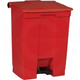 "Rubbermaid FG614500RED Step-On Container - 18 Gallon Capacity - 19 3/4"" L x 16 1/8"" W x 26 1/2"" H - Red in Color"