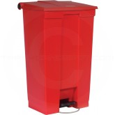 "Rubbermaid FG614600RED Step-On Container - 23 Gallon Capacity - 19 3/4"" L x 16 1/8"" W x 32 1/2"" H - Red in Color"