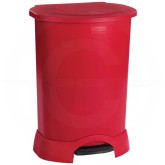 "Rubbermaid FG614700RED Step-On Container - 30 Gallon Capacity - 22 1/4"" L x 20 3/8"" W x 34 1/4"" H - Red in Color"