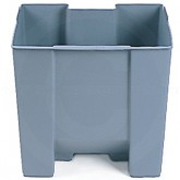 "Rubbermaid FG624300GRA Rigid Liner fits 6143 - 7 1/8 Gallon Capacity - 14 3/8"" L x 11 3/4"" W x 13 1/4"" H"