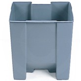 "Rubbermaid FG624400GRA Rigid Liner fits 6144 Step On Can - 10 1/4 Gallon Capacity - 14 3/8"" L x 11 3/4"" W x 19 3/4"" H"