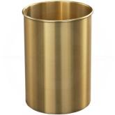 "Glaro 66BE Atlantis WasteMaster Wastebasket - 5 Gallon Capacity - 10"" Dia. x 15"" H - All-Weather Satin Brass"