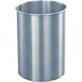 "Glaro 66SA New Yorker WasteMaster Wastebasket - 5 Gallon Capacity - 10"" Dia. x 15"" H - Satin Aluminum"