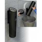 "Commercial Zone Swivel Wall Mounted Smokers Outpost - 1 Quart Capacity - 4"" Dia. x 16"" H - Black in Color"