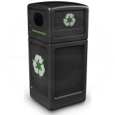 "Commercial Zone 74610199 Recycle42 Recycling Container - 42 Gallon Capacity - 18 1/2"" Sq. x 41 3/4"" H - Black in Color"