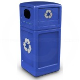 "Commercial Zone 74610499 Recycle42 Recycling Container - 42 Gallon Capacity - 18 1/2"" Sq. x 41 3/4"" H - Blue in Color"