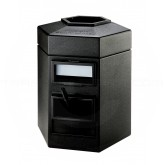 "Commercial Zone Cayman 1 Waste and Windshield Service Center - 35 Gallon Capacity - 25 1/2"" W x 23 1/4"" D x 31"" H - Black in Color"