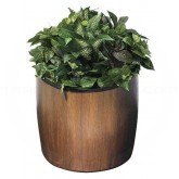 "Commercial Zone 756341 Garden Series Elmwood Planter - 21"" Dia. x 23"" H - Walnut in Color"