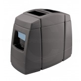 "Commercial Zone Haven 2 Double-Sided Windshield Service Center & Trash Can - 55 Gallon Capacity - 50 3/8"" W x 25"" D x 40 3/4"" H - Charcoal in Color"