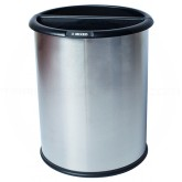 "Commercial Zone 781029 Precision Series InnRoom Classic Smooth Recycling Receptacle - 3.2 Gallon Capacity - 10 1/2"" Dia. x 12 3/4"" H - Stainless Steel"