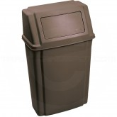 "Rubbermaid FG782200BRN Profile Series Trash Can - 15 Gallon Capacity - 19 1/2"" L x 11 7/8"" W x 32 5/8"" H - Brown in Color"