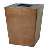 "Witt Industries 7STL-2631T St. Louis Square Fiberglass Receptacle - 26"" Sq. x 31"" H - 47 Gallon Capacity - Your choice of color"