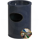 "Glaro 812 Sand Top Wall Mounted Ash/Trash Cigarette Receptacle - 8"" Dia. x 12"" H - Your choice of color"