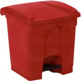 "Continental 8RD Step On Container - 8 Gallon Capacity - 16 1/4"" L x 15 3/4"" W x 17 1/4"" H - Red in Color"