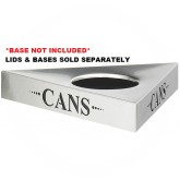 """Safco 9560CZ Trifecta """"Cans"""" Recycling Top - TOP ONLY - 20"""" L x 20"""" W x 3"""" H - Stainless Steel"""
