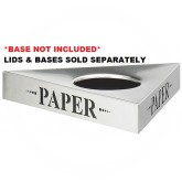 "Safco 9560PA Trifecta ""Paper"" Recycling Top - TOP ONLY - 20"" L x 20"" W x 3"" H - Stainless Steel"