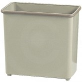 "Safco 9616SA Rectangular Steel Wastebasket - 1 Pack of 3 - 27.5 Quart Capacity - 16 1/2"" L x 9"" W x 15"" H - Sand in Color"