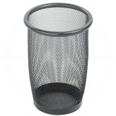 "Safco 9716BL Onyx Mesh Steel Round Wastebasket - 1 pack of 3 - 3 Quart Capacity - 7 1/2"" Dia. x 9"" H - Black in Color"