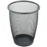 "Safco 9717BL Onyx Mesh Steel Round Wastebasket - 1 pack of 3 - 5 Gallon Capacity - 13"" Dia. x 14 1/2"" H - Black in Color"