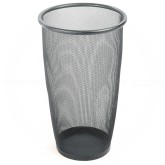 "Safco 9718BL Onyx Mesh Steel Round Wastebasket - 1 pack of 3 - 9 Gallon Capacity - 13 1/2"" Dia. x 19 1/2"" H - Black in Color"