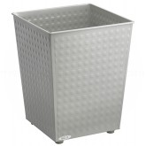 "Safco 9733GR Square Checks Steel Wastebasket - 1 Pack of 3 - 6 Gallon Capacity - 10 1/2"" Sq. x 12 1/2"" H - Gray in Color"
