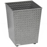 "Safco 9733NC Square Checks Steel Wastebasket - 1 Pack of 3 - 6 Gallon Capacity - 10 1/2"" Sq. x 12 1/2"" H - Black Speckle in Color"