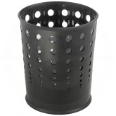 "Safco 9740BK Round Bubble Steel Wastebasket - 1 Pack of 3 - 6 Gallon Capacity - 11.625"" Dia. x 12 1/2"" H - Black in Color"