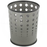 "Safco 9740GR Round Bubble Steel Wastebasket - 1 Pack of 3 - 6 Gallon Capacity - 11.625"" Dia. x 12 1/2"" H - Gray in Color"