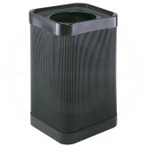"Safco 9790BL Square At-Your-Disposal Waste Receptacle - 38 Gallon Capacity - 18"" Sq. x 30"" H - Black in Color"