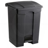 "Safco 9922BL Plastic Step On Waste Receptacle - 17 Gallon Capacity - 19 3/4"" L x 16 1/4"" W x 26 1/4"" H - Black in Color"