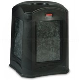 """Rubbermaid 9W02 Landmark Series Funnel Top with Panel Frame and 3958 Rigid Liner - 35 Gallon Capacity - 24"""" Sq. x 31"""" H - Thumbnail Image"""