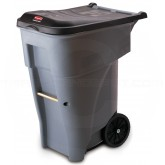 Rubbermaid FG9W2100GRAY BRUTE Rollout Container - 65 Gallon Capacity - Gray in Color