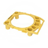 Rubbermaid FG9W8700YEL BRUTE Rim Caddy for 2643 Containers - Yellow in Color