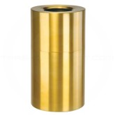 "Rubbermaid AOT35SB Open Top Waste Receptacle - 35 Gallon Capacity - 18"" Dia. x 32"" H - Satin Brass"