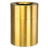 "Rubbermaid AOT62SB Open Top Trash Can - 62 Gallon Capacity - 24"" Dia. x 35"" H - Satin Brass"