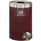 "Glaro B2032 Recycle Pro 1 Receptacle with Round Opening - 33 Gallon Capacity - 20"" Dia. x 31"" H - Your choice of color"
