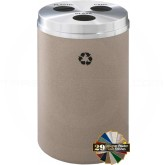 "Glaro BCB20 Recycle Pro 3 Recycling Can with Three Hole Openings - 33 Gallon Capacity - 20"" Dia. x 31"" H - Your choice of color"