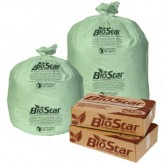 Pitt Plastics BioStar Biodegradable - 30 x 36 - 20-30 Gallon Capacity - Extra Heavy - Green in Color - 150 bags per case