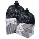 Pitt Plastics B72410DK BlackStar Black - 24 x 23 - 10 Gallon Capacity - Light Duty - .35 Mil - 1000 per case - Flat Pack