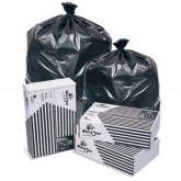 Pitt Plastics B74020K BlackStar Black Can Liners - 33 x 39 - 33 Gallon Capacity - Heavy Duty - .6 Mil - 250 per case - Flat Pack