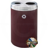 "Glaro BW2032 Recycle Pro 2 Recycling Can with Two Round Openings - 33 Gallon Capacity - 20"" Dia. x 31"" H - Your choice of color"