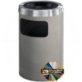 "Glaro C2031 Mount Everest Sand Cover Ash/Trash Receptacle - 17 Gallon Capacity - 20"" Dia. x 31"" H - Satin Aluminum Cover"