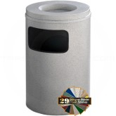 "Glaro C2061 Mount Everest Sand Cover Ash/Trash Bin - 17 Gallon Capacity - 20"" Dia. x 31"" H - Matching Enamel Cover"