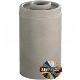 "Glaro D2051 Mount Everest Donut Top Ash/Trash Receptacle - 33 Gallon Capacity - 20"" Dia. x 35"" H - Matching Enamel Cover"