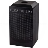 Rubbermaid FGDCR24CTBK Silhouette Recycling Receptacle - Cans and Bottles - 29 Gallon Capacity - Textured Black in Color